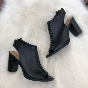 GAP Black Open Toe Slingback Booties